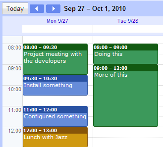 gtimereport creating time reports from your google calendar to